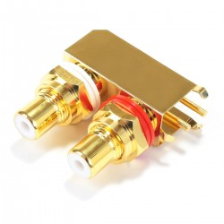 ELECAUDIO ER-110 RCA Plugs Stereo Gold Plated for PCB