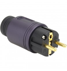 ELECAUDIO RS-34GP Connecteur Secteur SCHUKO Placage Ag/Or24K Purple Ø16.5mm
