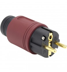 ELECAUDIO RS-34GW Wine Schuko Power Plug 24k Gold/Silver Plated Ø16.5mm