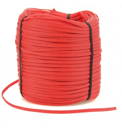 ELECAUDIO GP-E3 Gaine tressée Polyester Monofilament 03-06mm Rouge